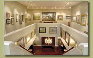View of gallery from upstairs.