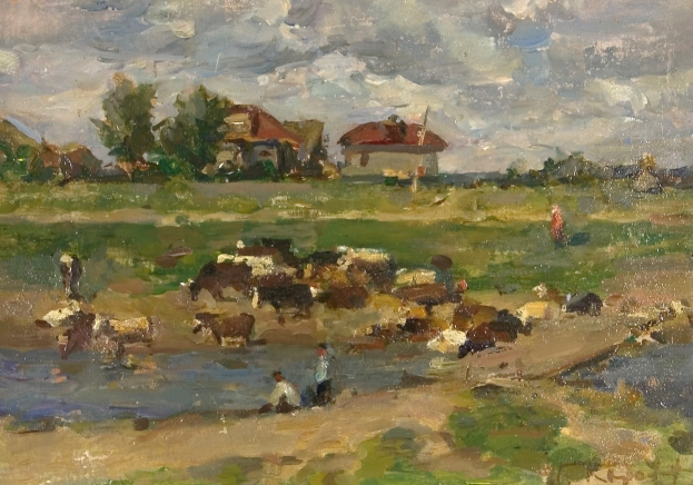 Herd by Gennady Korolev (1913 - 1995)