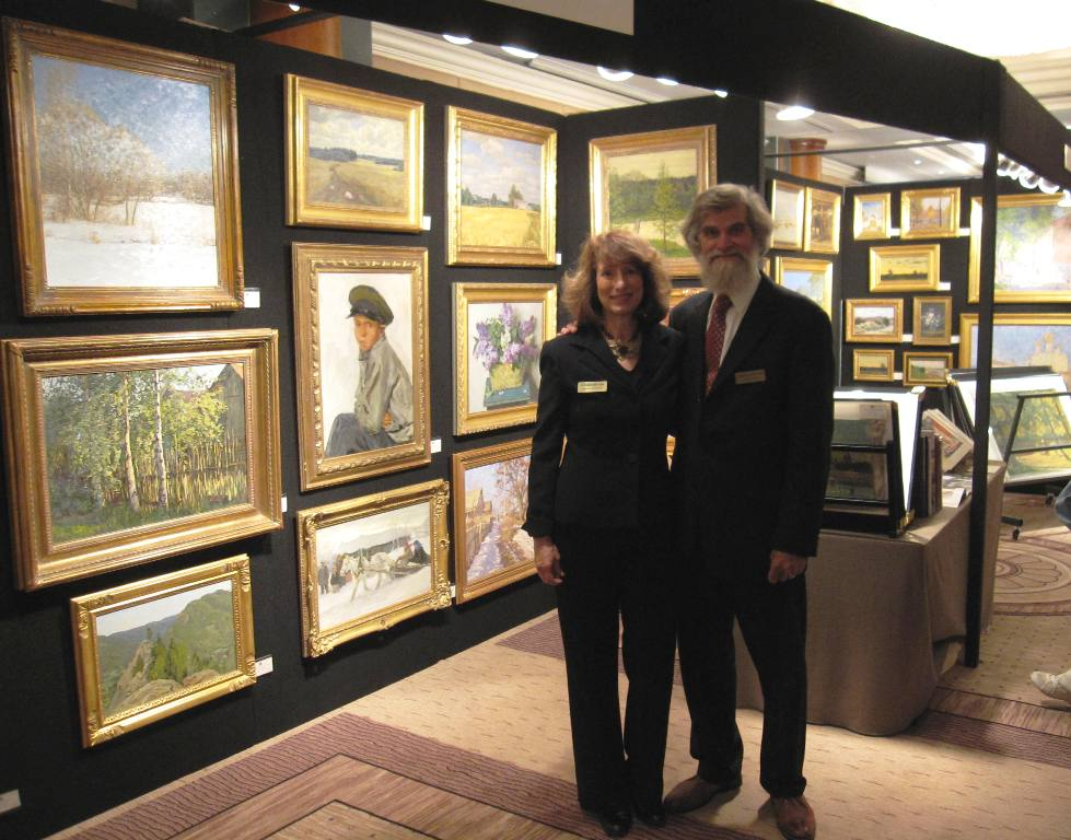 Kathy and John at the Russian Art Fair