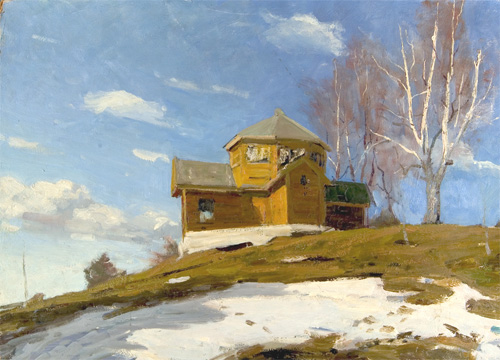 Alexander Danilichev Spring at the Academic Dacha