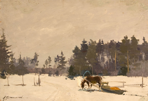 Alexander Danilichev Horse and Sled Horse