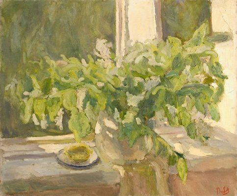 Kolya Dubovik The Spring Sill Life green, white