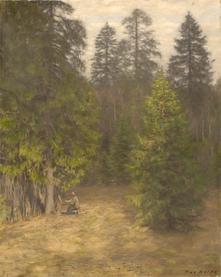 Mikhail Kugach Tryptich in Forest, Ray of Light