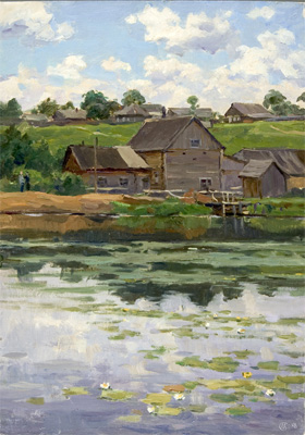 Mikhail Sokolov A Mill on the River Ozerkye