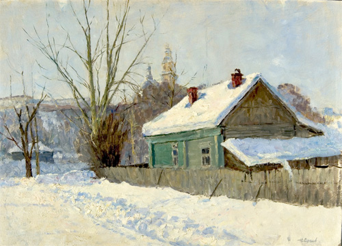 Nikolai Sergeyev Snow in the Village