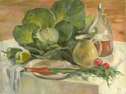 Olga Belakovskaya Still Life With Fresh Vegetables