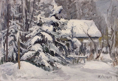 Igor Raevitch Winter at the Datcha