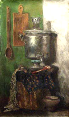 Igor Raevitch Still Life with Samovar