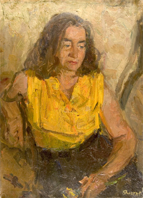 Oleg Chistyakov Portrait of A Women in Yellow