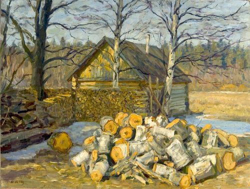 Yuri Kugach Firewood Beside the Banya