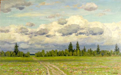 Yuri Kugach Clouds above the Meadow