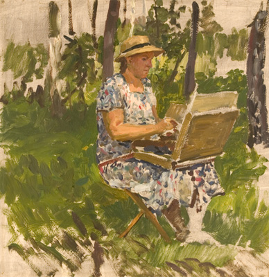 Yuri Kugach Olga Painting in the Forest