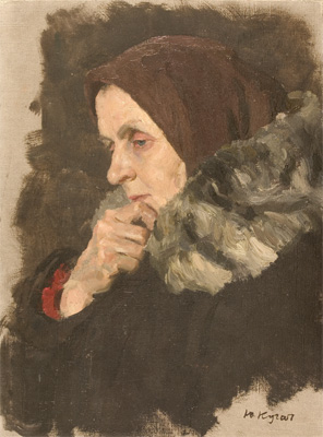 Yuri Kugach Thoughtful Woman, study for the painting 'In the R
