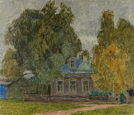 Vyacheslav Zabelin The House of Yesenin in Konstantinova