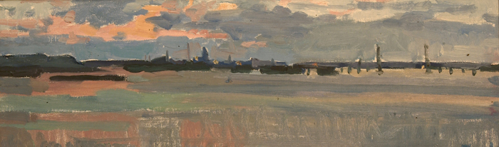 Aleksandra Mikhailovna Khaneeva Dusk on the James River
