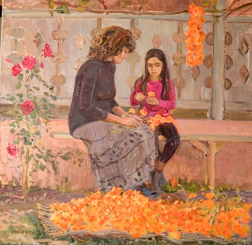 John Wurdeman Girl with Marigold Garlands