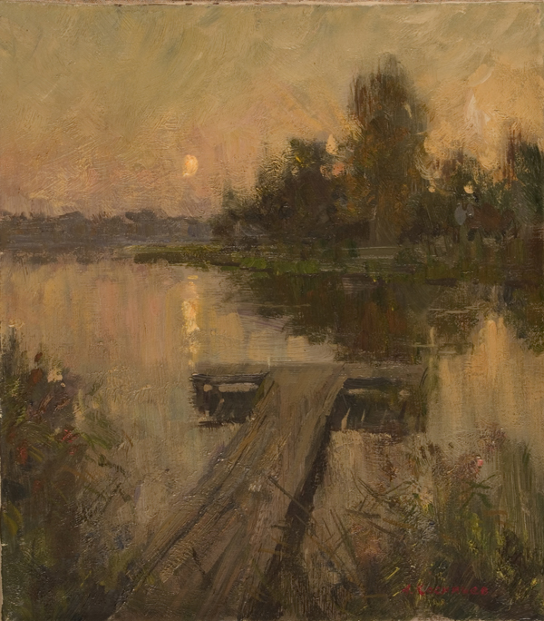 Alexanderliech Kosnichev Quiet Evening Landscape