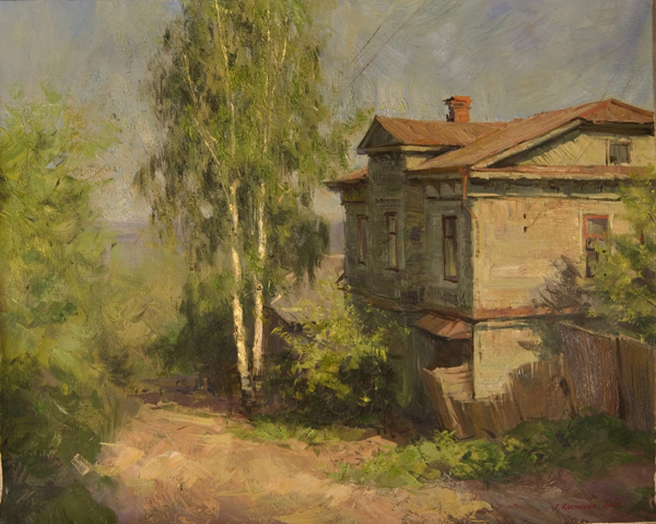 Alexanderliech Kosnichev Evening on Vosnesensky Landscape, Buildings