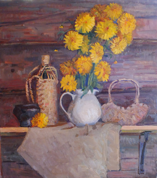 Kolya Dubovik Still Life with Golden Balls