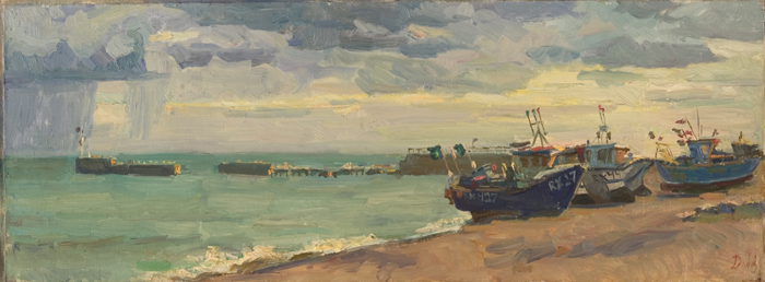 Kolya Dubovik Stormy Day in Hastings Landscape, Seascape