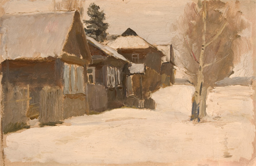 Nikita Fedosov Winter in Remote Village