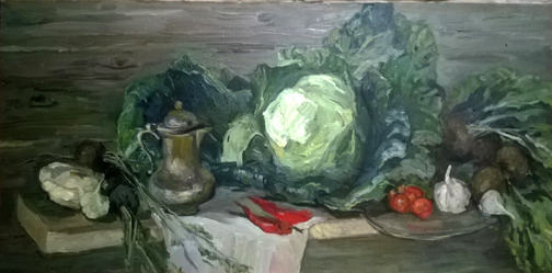 Olga Belakovskaya Still Life with Cabbage