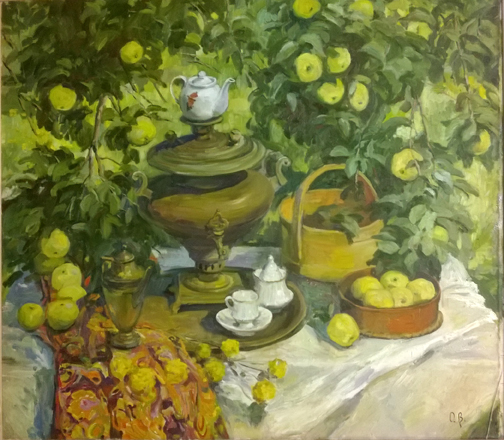 Olga Belakovskaya Tea Time in My Garden Floral