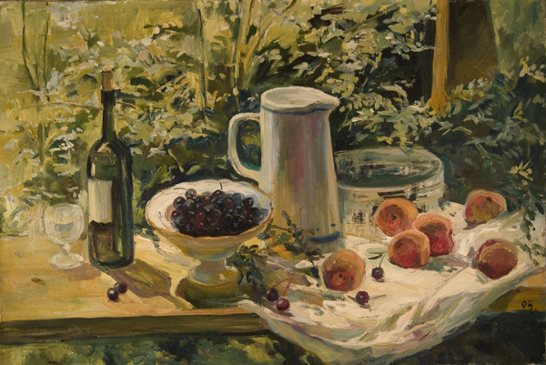 Olga Belakovskaya Berries and Peaches Still Life