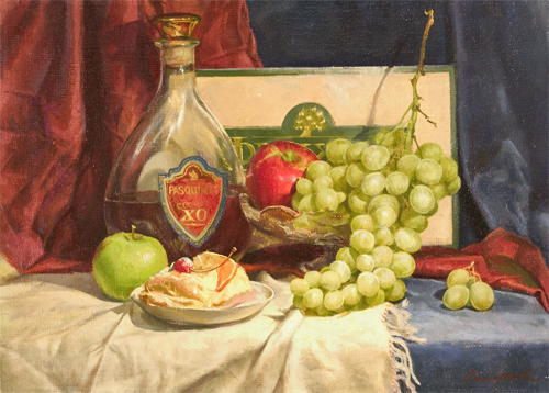 Andre Smirnov Still-life With Grapes fruit