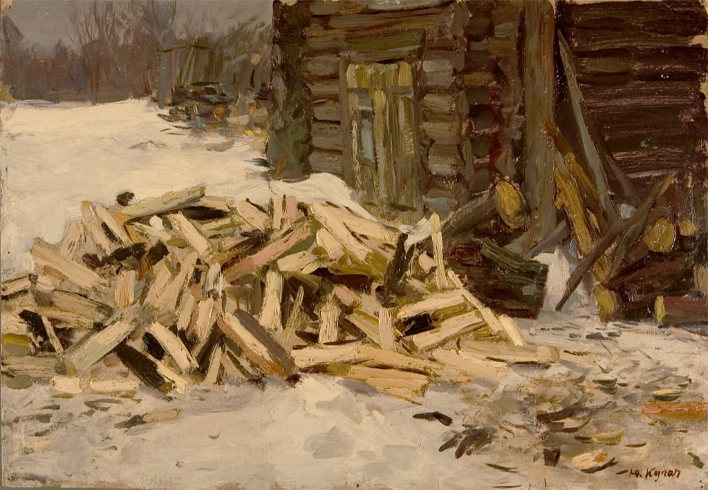 Yuri Kugach Wood in Snow